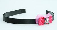 Pink / skull cross eye white-black dark pink bow & skull