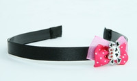 Pink / cute skull bone white-red dark pink bow & skull