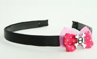 Pink / skull cross eye black-white dark pink bow & skull