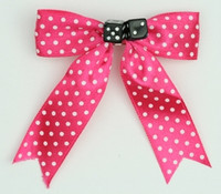 Pink-white / black dice hair clips piece
