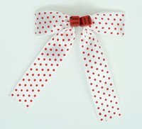 Dot white-red / red-black dice hair clips piece