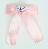 Dot L pink-white / pink blue dice hair clips piece