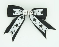 Star dot black-white dice hair clips piece