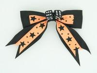 Star dot orange-black dice hair clips piece