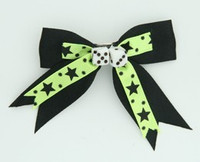 Star dot green-black dice hair clips piece