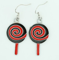 Lolly black-red sweet pendant