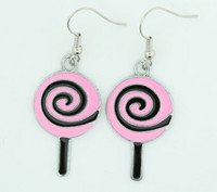 Lolly black-pink sweet pendant