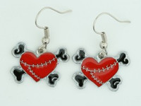 Heart bone red-black sweet pendant