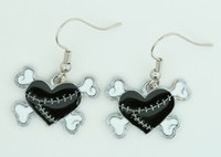 Heart bone black-white sweet pendant