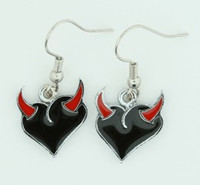 Heart horn black-red sweet pendant
