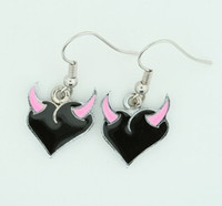 Heart horn black-pink sweet pendant