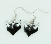 Heart horn Black-white sweet pendant