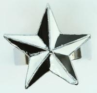 Star black-white star ring