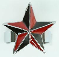 Star black-red star ring