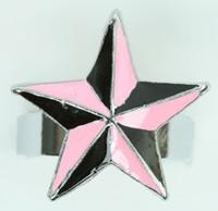 Star black-pink star ring