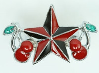 Star cherry red star ring
