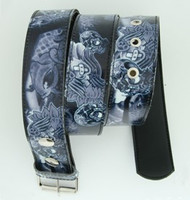 Carper skull grey animal belt