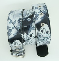 Carper flower grey animal belt