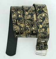 Carper round black-gold animal belt