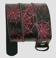 Spider black-pink animal belt