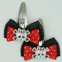 Black-red / cute Sk bone white-red Red skull