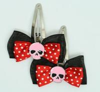 Black-red/ skull plain pink red skull