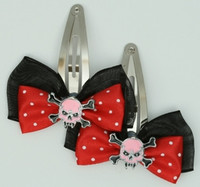 Black-red / Sk tooth pink red skull