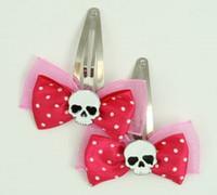 Pink / skull plain white dark pink skull