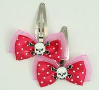 Pink / skull tooth white dark pink skull