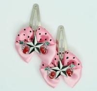 Pink / star cherry black-white light pink star