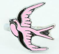 Swallow pink animal ring