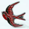 Swallow red animal ring
