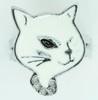 Cat white animal ring