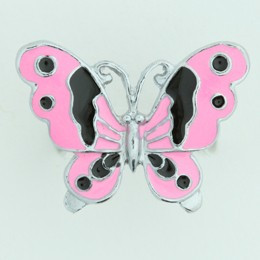 Butterfly pink animal ring