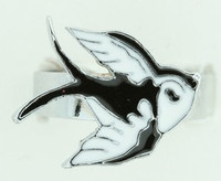Swalluw cute white animal ring