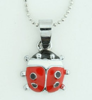 Lady bird animal necklace