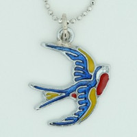 Swallow color animal necklace