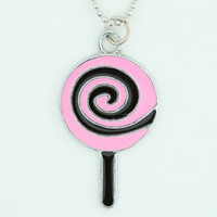 Lolly black-pink sweet necklace