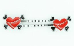 Heart bone red-black sweet slide