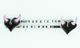 Heart horn black-pink sweet slide