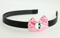 LP Skull Plain White Light Pink Bow & Skull