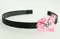 Skull cross eye black light pink bow & skull