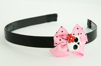 Skull glower white-red light pink bow & skull
