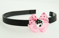 Skull flower white-black light pink bow & skull