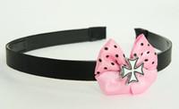Herocross white light pink bow & mix