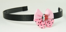 Ladybird light pink bow & animal