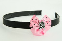 Cat bone black-pink light pink bow & animal