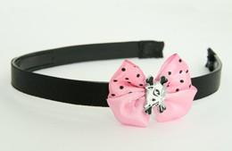 Cat bone white-black light pink bow & animal