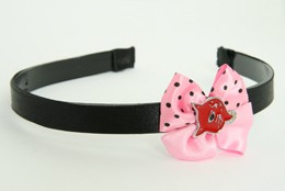 Cat red light pink bow & animal