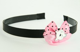 Cat white light pink bow & animal